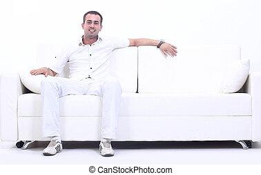 riuscito, divano, equipaggi seduta
