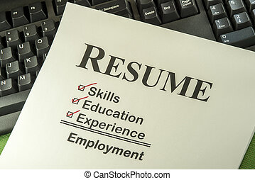 riuscito, lista, concetto, occupazione, riprendere