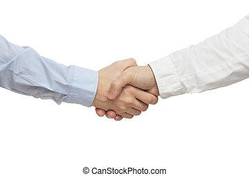 riuscito, persone affari, handshak