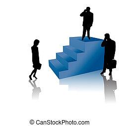 riuscito, scale, persone affari