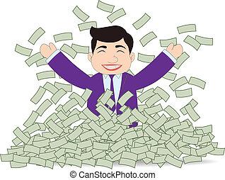 riuscito, soldi, uomo affari