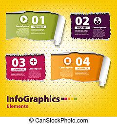 riv, infographic, sæt, bånd