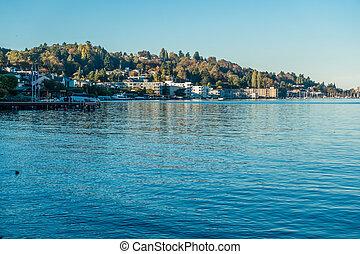rivage, 2, -, lac washington