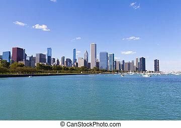 rivage, lac, chicago
