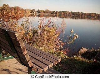 rivage, lac