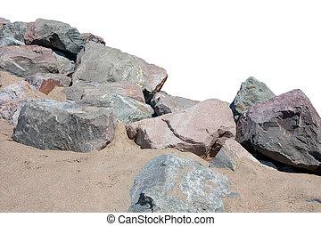 rivage, rochers