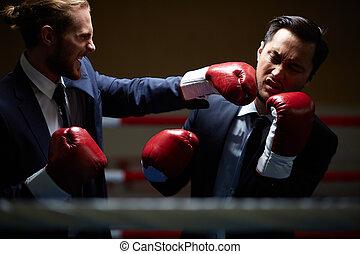 rival, negócio, luta
