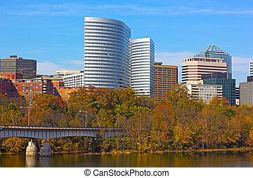 river., épületek, potomac