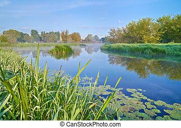 river., נוף, narew