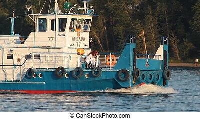 River 006 - Tugboat at river port.