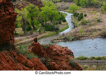 river 4958 - View from tunnel drive trail above Royal Gorge ...