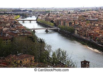 River Adige Verona - the River Adige in Verona, Italy