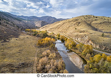 river ain mountain canyon aerial view