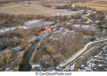 river and farmland in eastern Colorado
