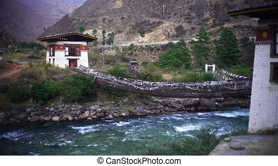 River and Forest in the Himalaya mountains Bhutan - Valley ...