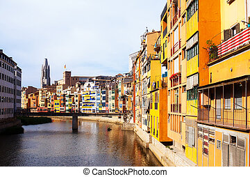 river at Girona in day time