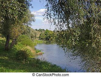 river at summer