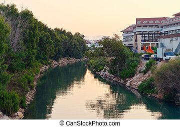 River at sun rise