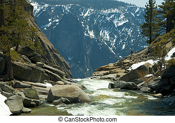 River at top of Yosemite Falls