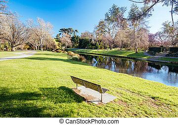 River Avon in Christchurch New Zealand - Landscape around ...