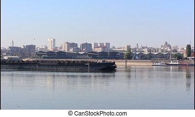 River barge, coal