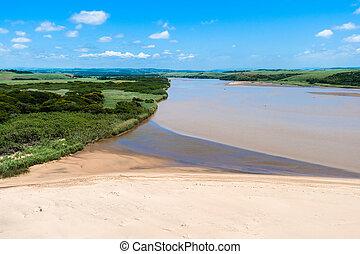 River Beach Air Landscape
