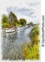 River boat mooring