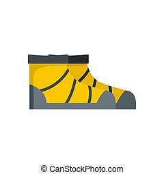 River boots icon, flat style