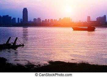 River City at dusk