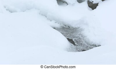River covered in snow