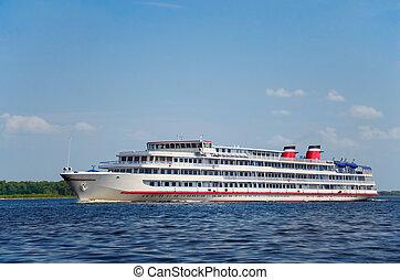River cruise ship - Four-deck river cruise ship on Volga...