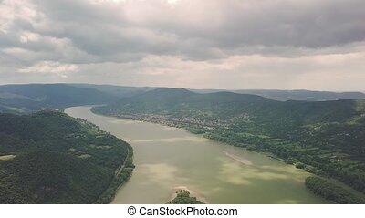 River Danube Bend in Hungary - River Danube Bend landscape...