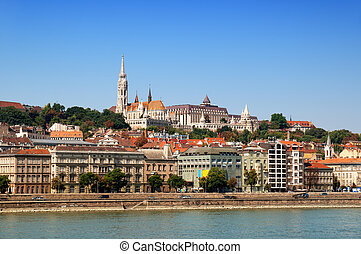 River Danube, Matthias Church and Fisherman Bastion.