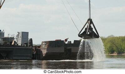 River dredging works.