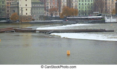 River embankment. Prague