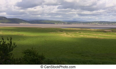 River estuary landscape - View from the hill of cloud...