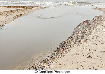 River estuary to Baltic Sea - Poland. - River estuary to ...