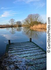 River fishing platform