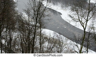 river floe park winter
