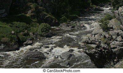 River flowing among rocks