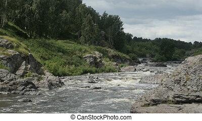River flowing among rocks