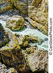 River flowing through the Breitachklamm Gorge