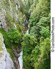River flowing through the Leutasch Gorge
