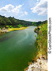 River Gard in southern France near Nimes