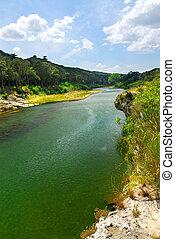 River Gard in southern France near Nimes