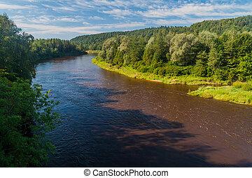 River Gauja in Gauja National Park, Latvia