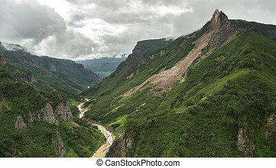 River Geysernaya in Valley of Geysers. Kronotsky Nature Reserve on Kamchatka Peninsula.