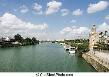 River Guadalquivir - View of the Guadalquivir river in ...