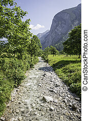 River in Austrian Alps - Picture of river in Austrian Alps...