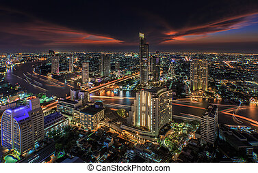 River in Bangkok city